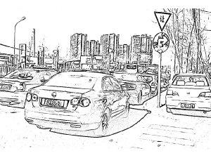 tooncamera [漫画相机&卡通相机] for ios-停放在路边的汽车
