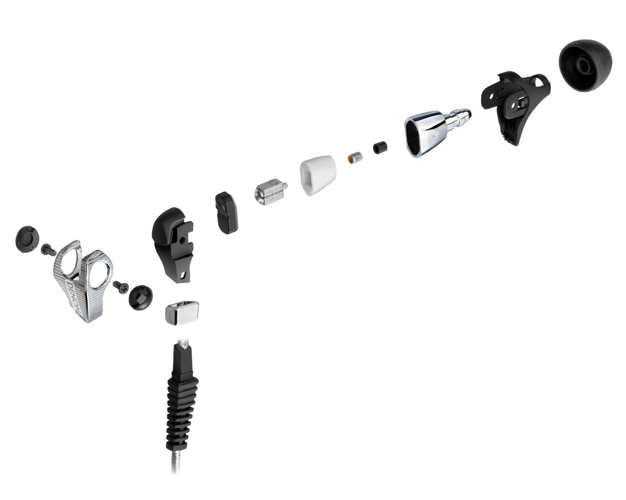 denon 天龙 ah-c400 入耳式耳机-耳机结构爆炸视图[官方图]