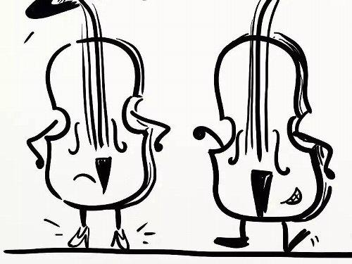 小提琴和中提琴从外观上究竟如何区分?图片